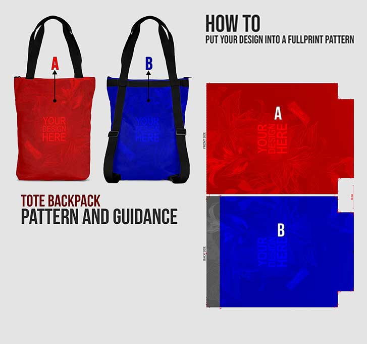 fullprint  tote backpack 4