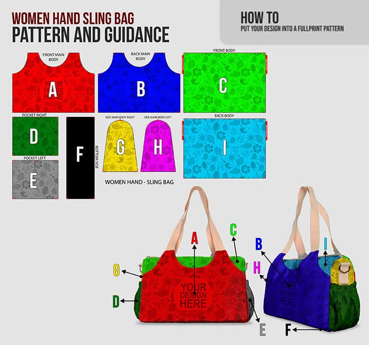 fullprint  sling handbags 4