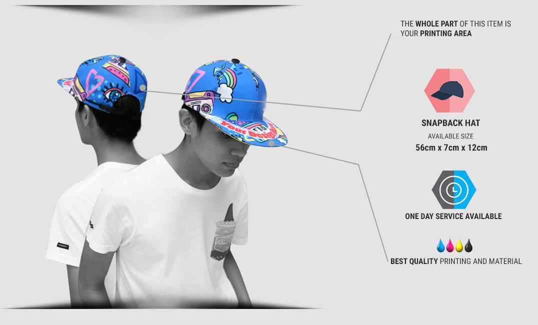 spesifikasi topi snapback