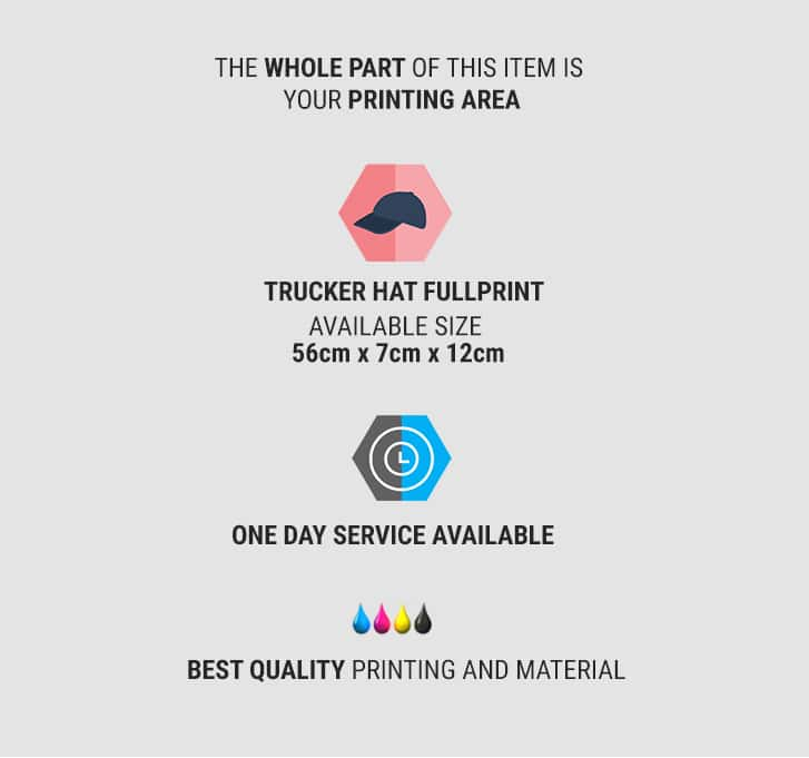 trucker hat fullprint