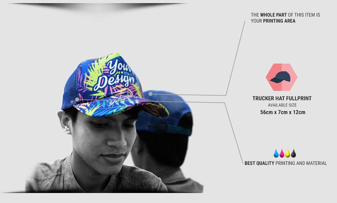 trucker hat full print