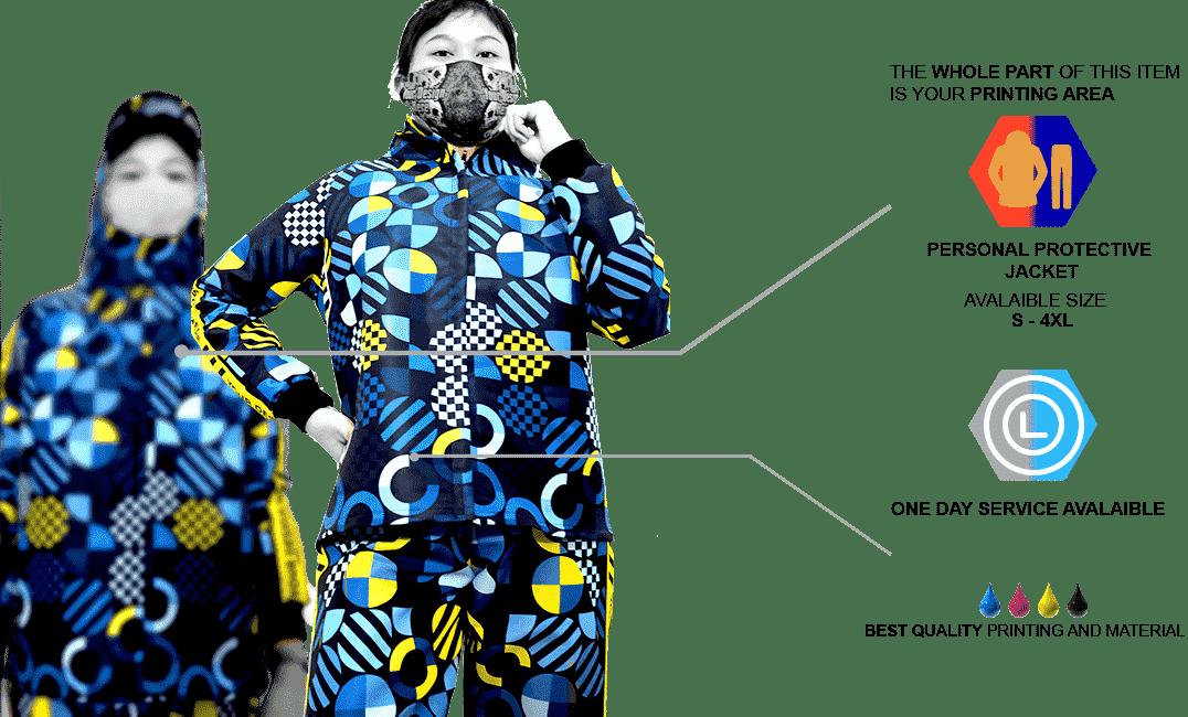 Fullprint Windbreaker Jacket