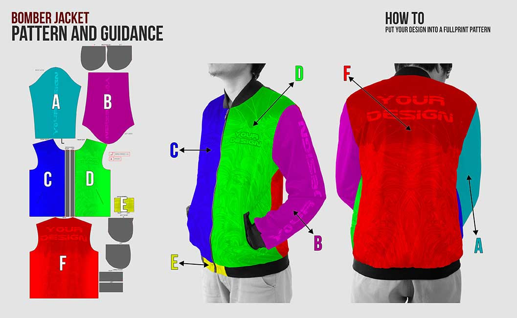 guidance pattern bomber jacket