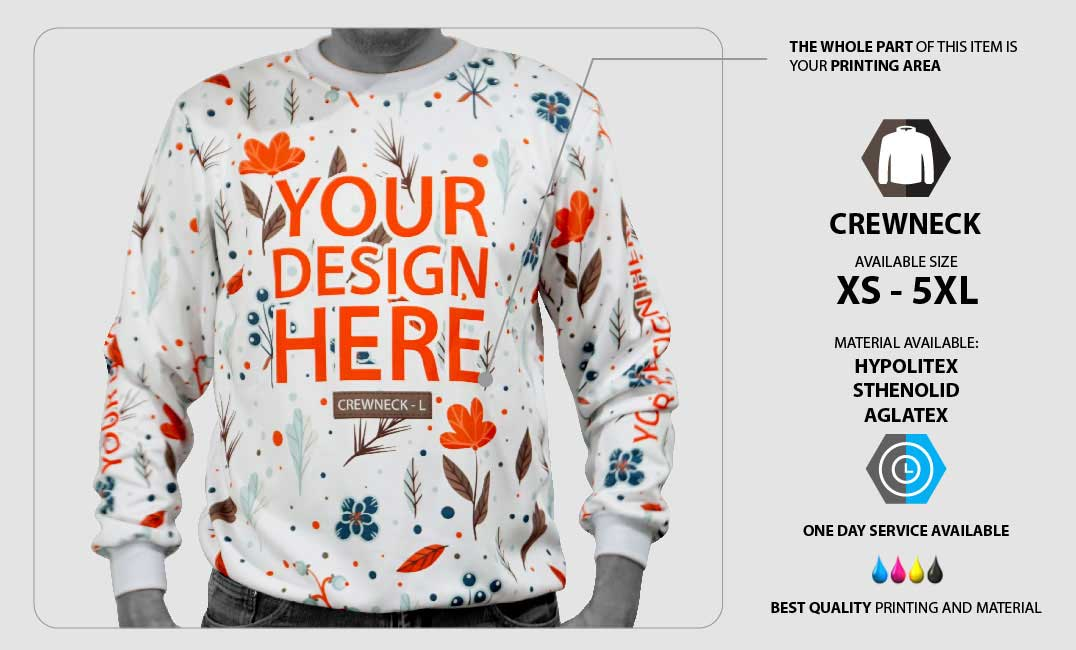 crew neck fullprint