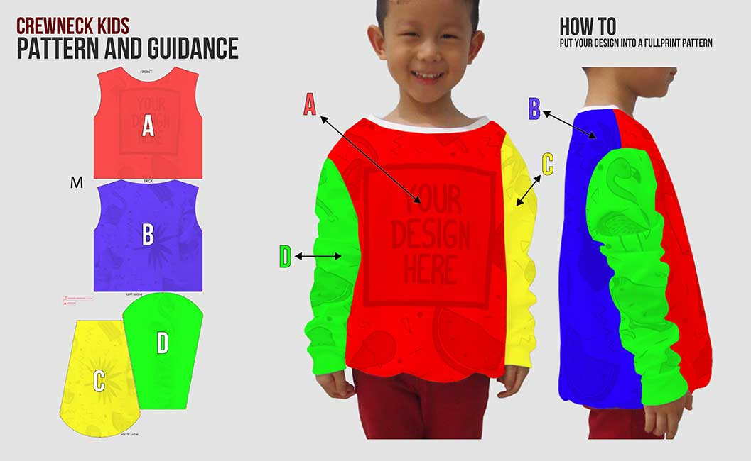guidance pattern crewneck kids