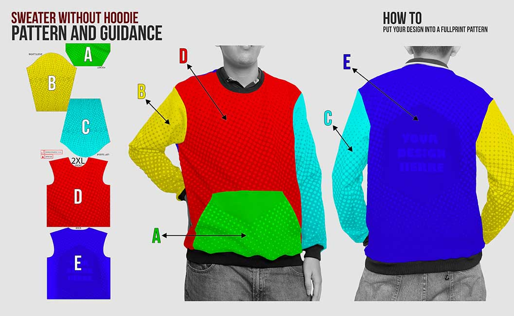 guidance pattern sweater without hoodie