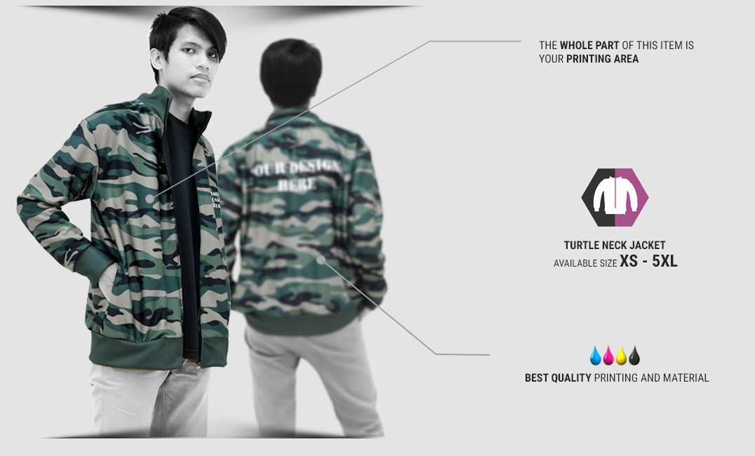 Fullprint Turtleneck Jacket