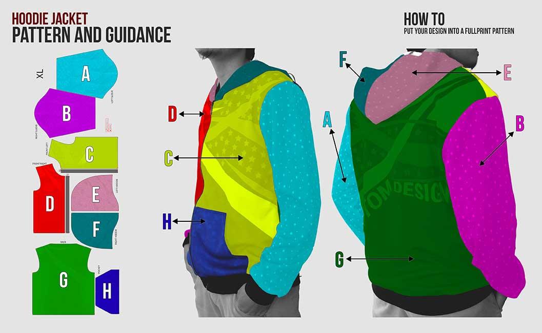 guidance pattern sweater hoodie
