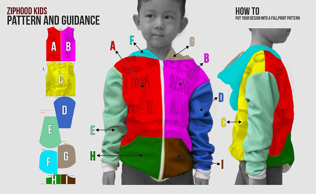guidance pattern zipper kids
