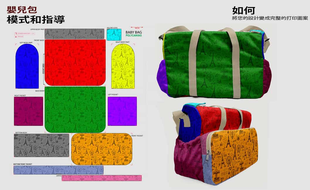 guidance pattern baby bag