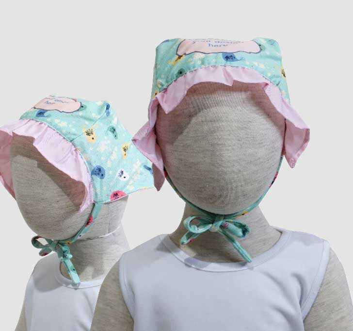 fullprint  Baby Bonnets 2