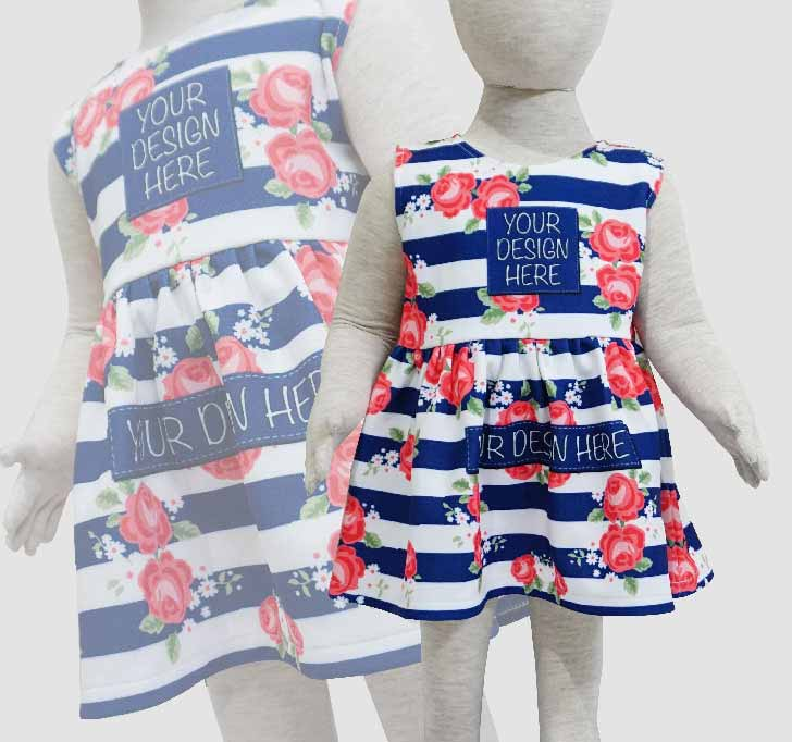fullprint  Baby Mini Dress 2