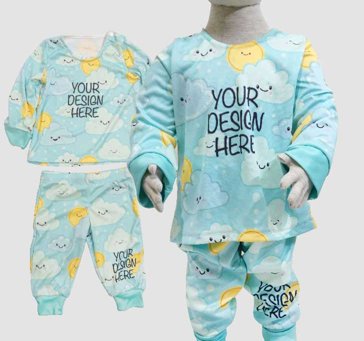 fullprint  Baby Pajamas Sets 2