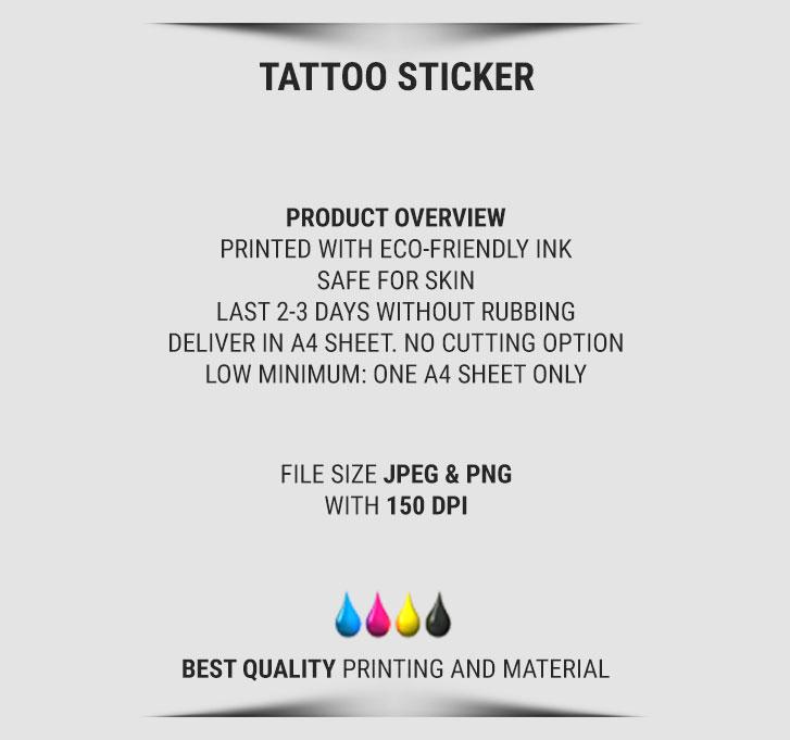 temporary tattoo sticker 3