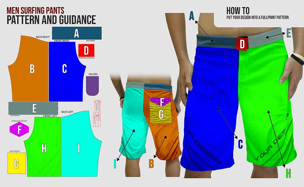 guidance pattern mens surfing pants