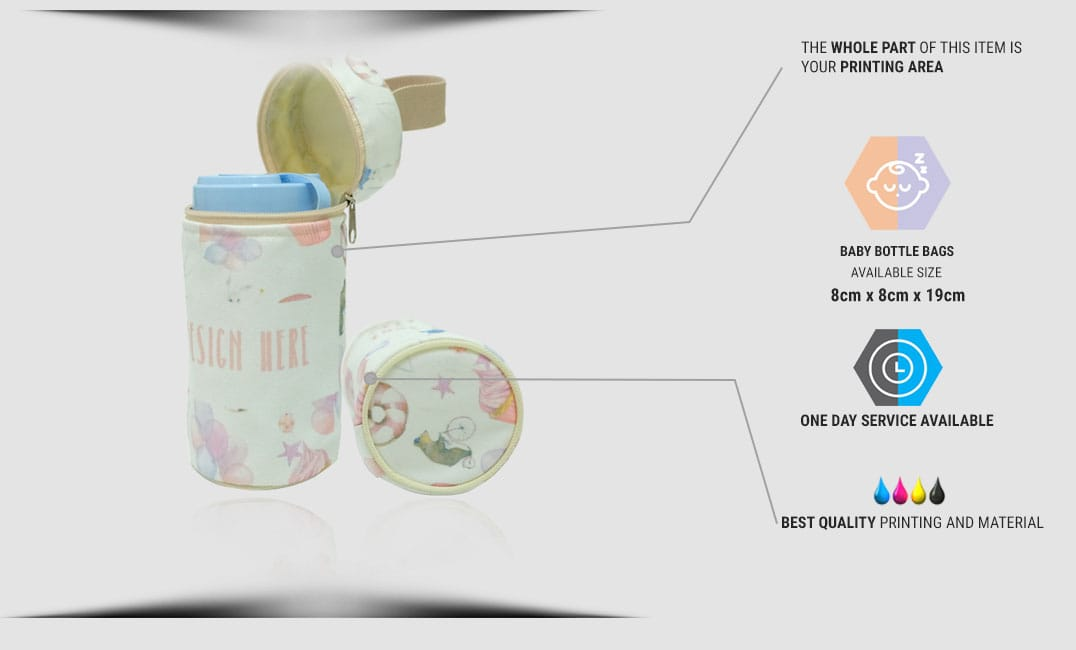 specification baby bottle bag