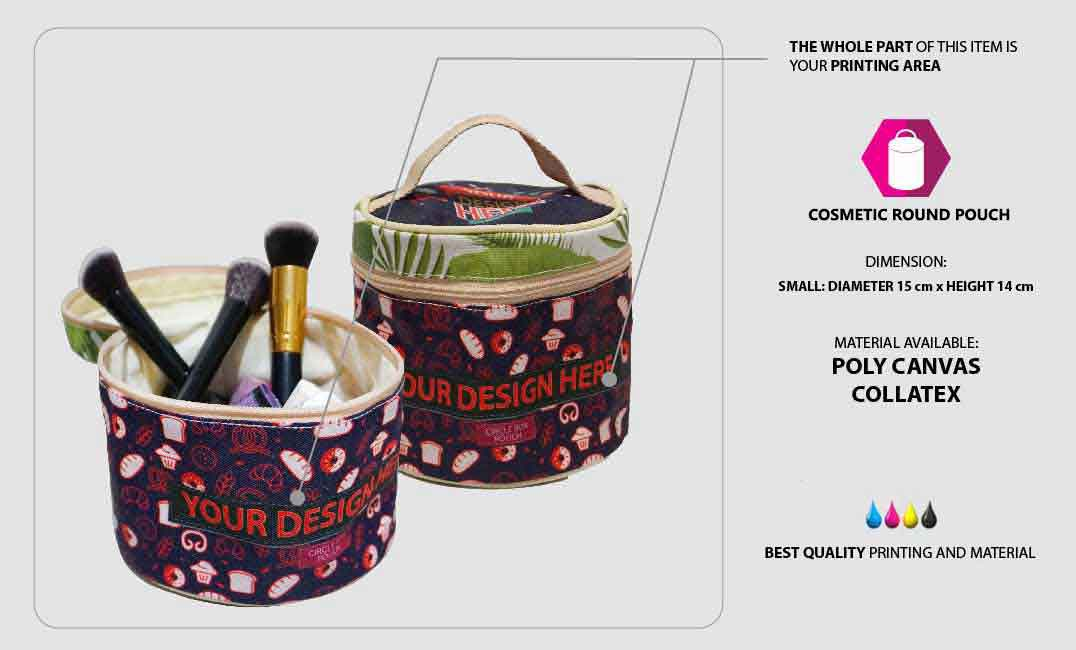 Cosmetic Round Pouch 1