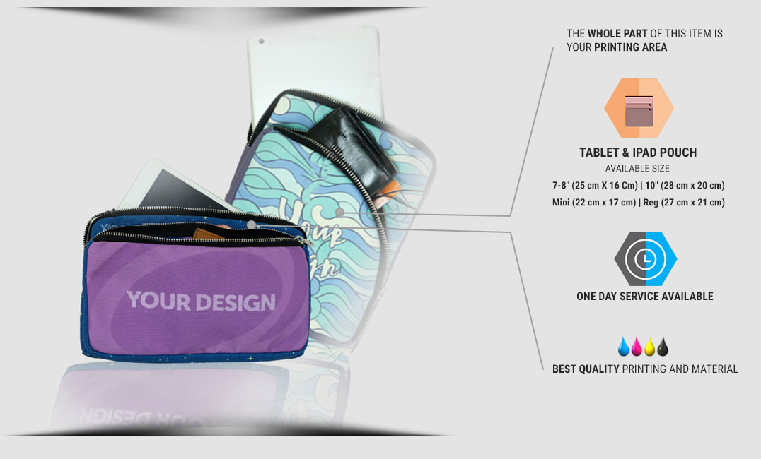 tablet & ipad pouch specification