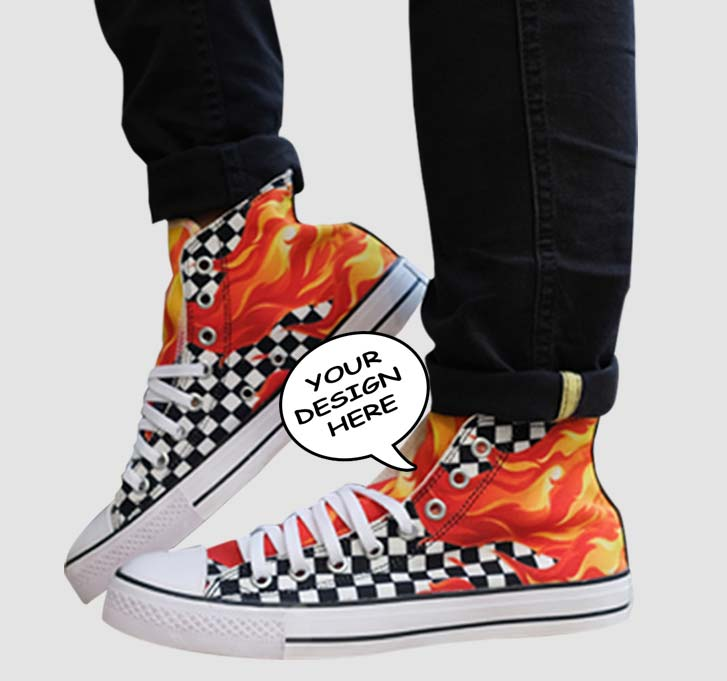 high top shoes custom mob 1