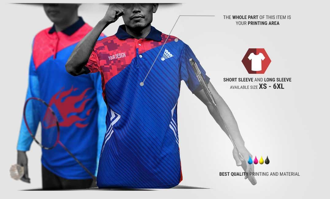 custom jersey badminton