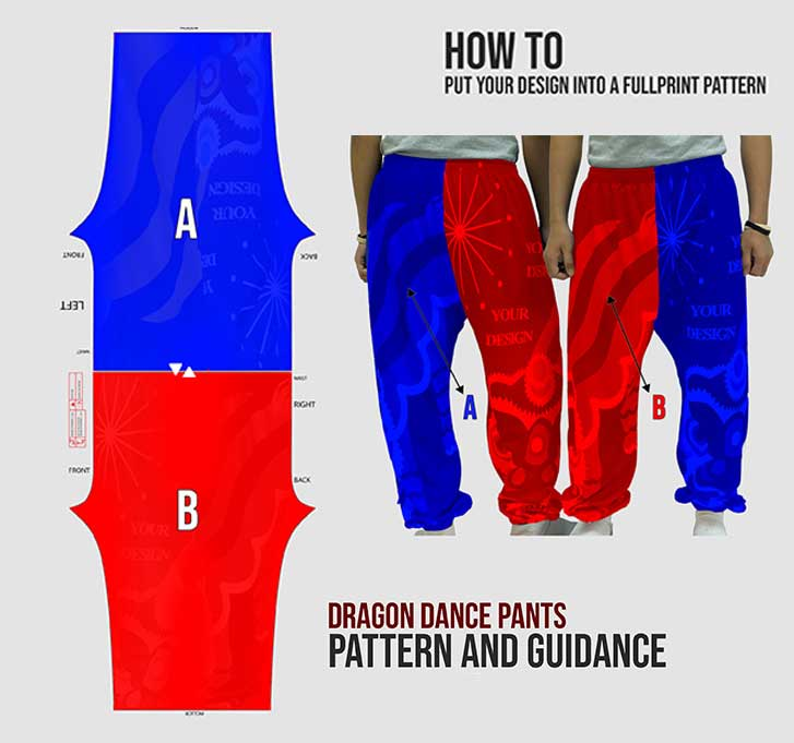 dragon dance pants mob 3
