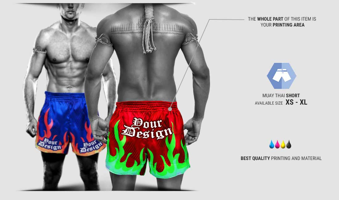 custom muay thai short