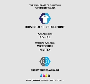 fullprint  Kids Polo Shirt Fullprint 3