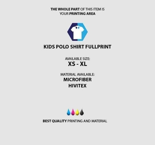 Kids Polo Shirt Fullprint specification mobile 2