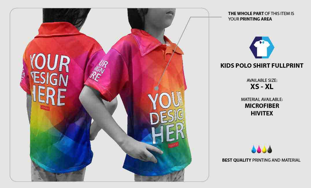 Kids Polo Shirt Fullprint 1