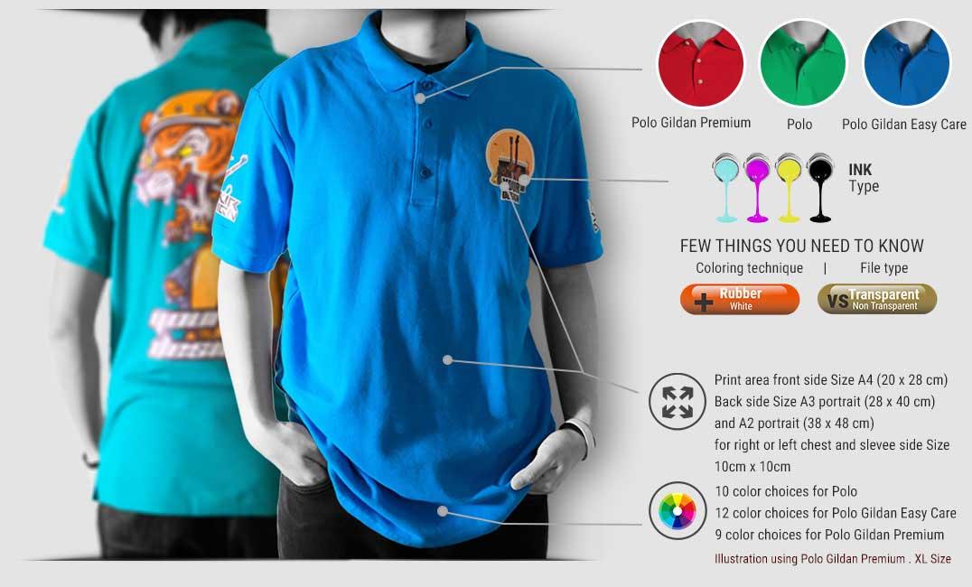 print polo t-shirt
