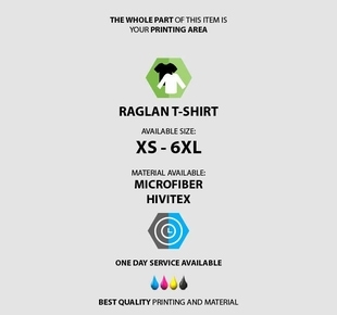 Raglan T-shirt Fullprint specification mobile 2