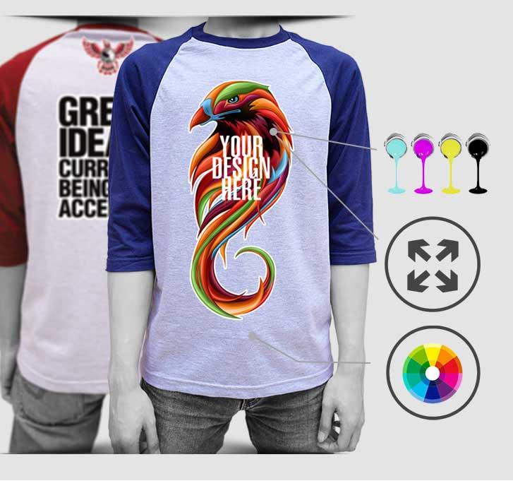 print raglan t-shirt 1