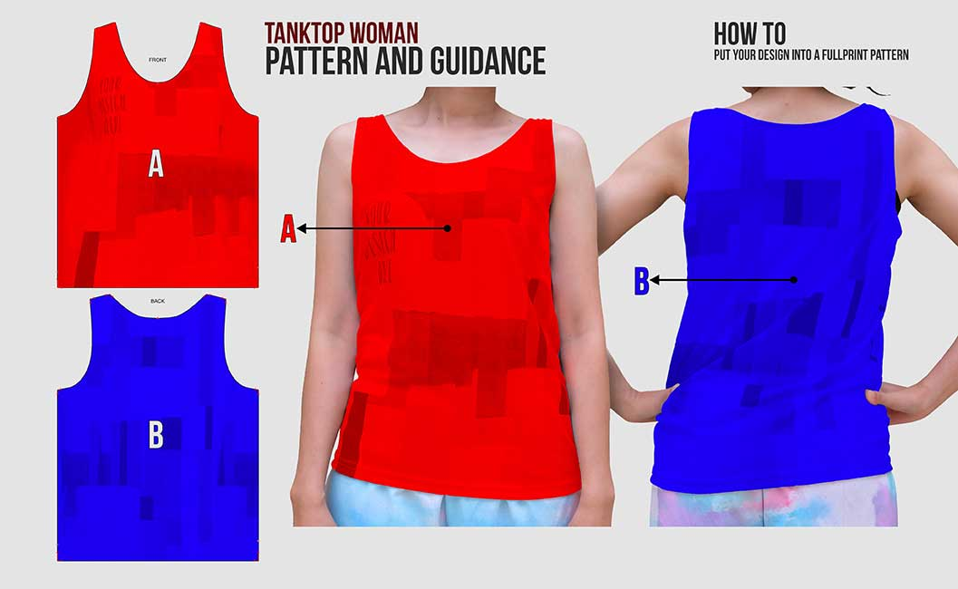 guidance pattern tanktop