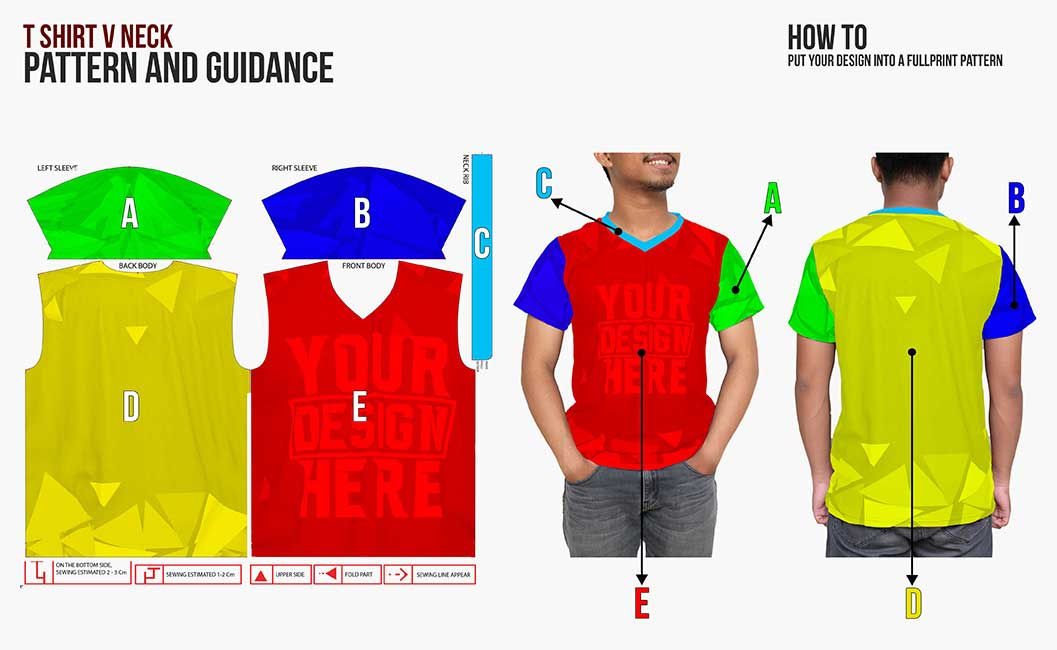 guidance pattern vneck