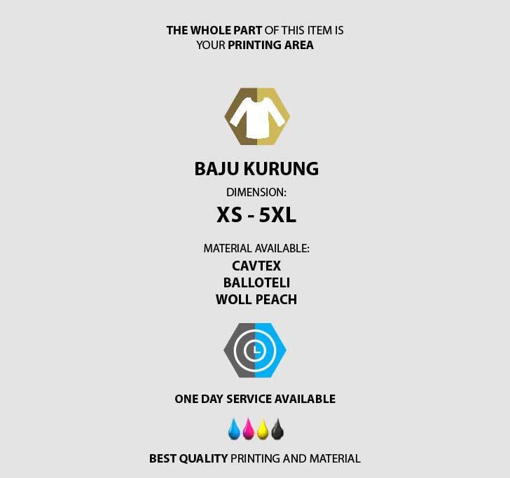 fullprint  Baju Kurung 3