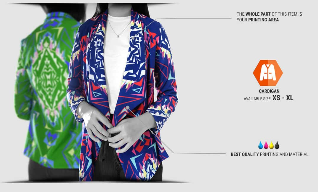 women cardigan specification