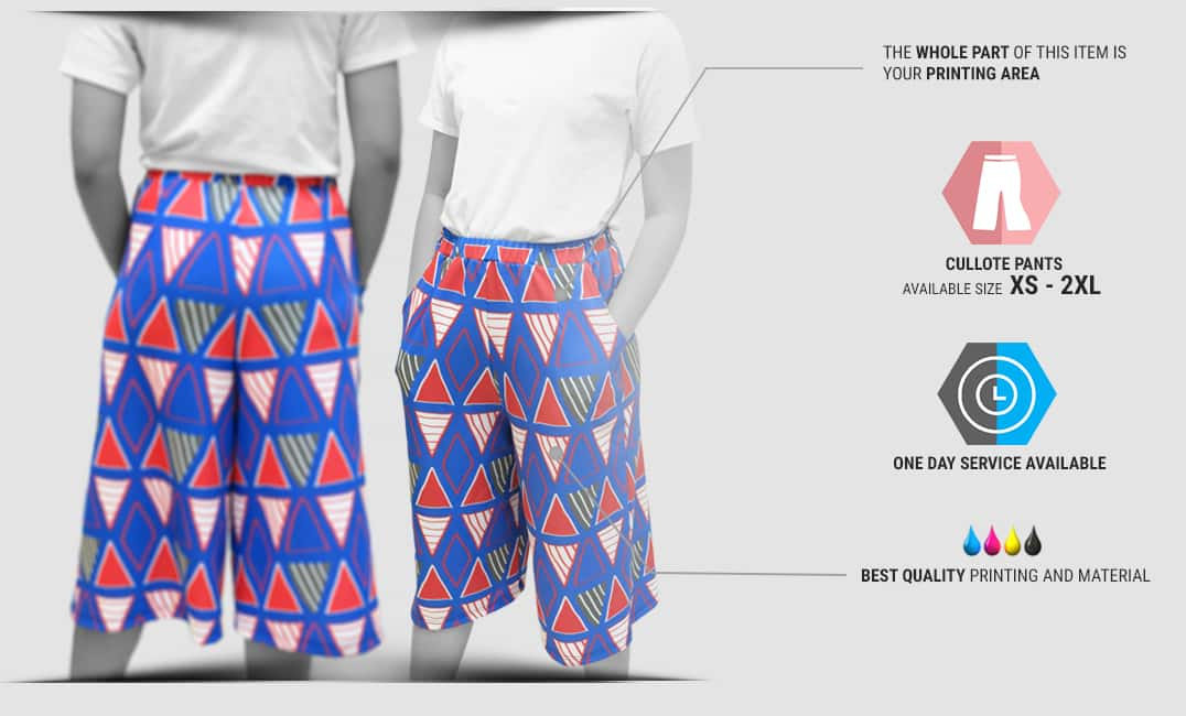 cullote pants specification