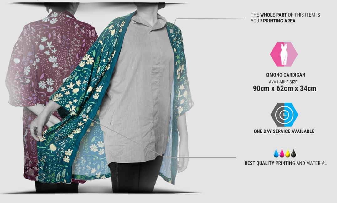 specification kimono cardigan