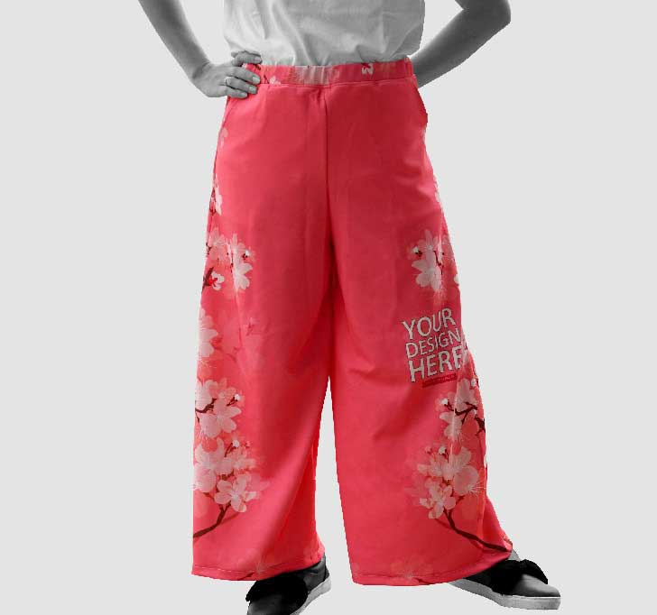 fullprint  Long Cullote Pants 2
