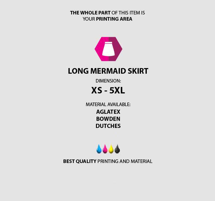 fullprint  Long Mermaid Skirt 3