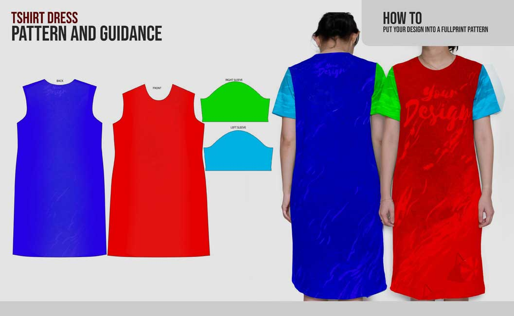 guidance pattern tshirt dress