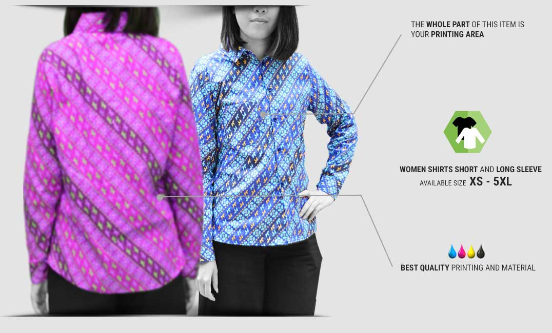 women shirt specification