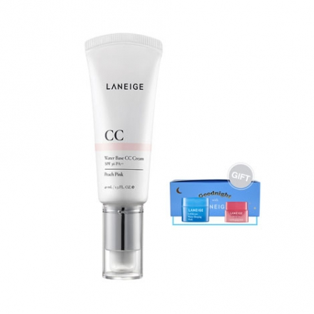 Laneige Water Base CC Cream (Peach Pink) + Gift