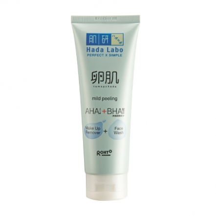 Hada Labo Tamagohada Ultimate Mild Peeling Face Wash Make Up Remover