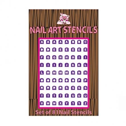 Alphabet Nail Stencil Purple