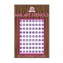Alphabet Nail Stencil - Purple