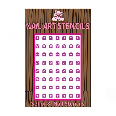 Piggy Paint Combo Pack Nail Stensil Pink