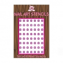 Combo Pack Nail Stensil Pink