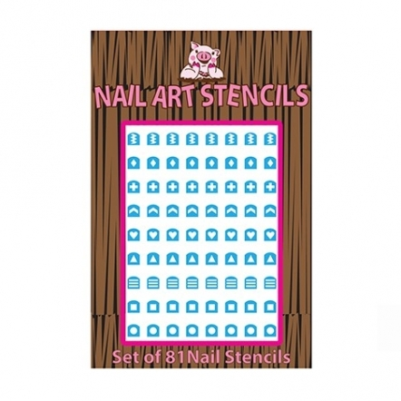 Piggy Paint Abstract Shapes Nail Stencil