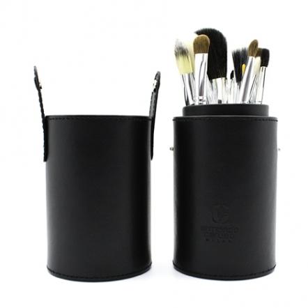 Cylinder Makeup Brush Set